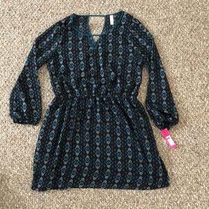 Xhilaration long sleeve sheer dress